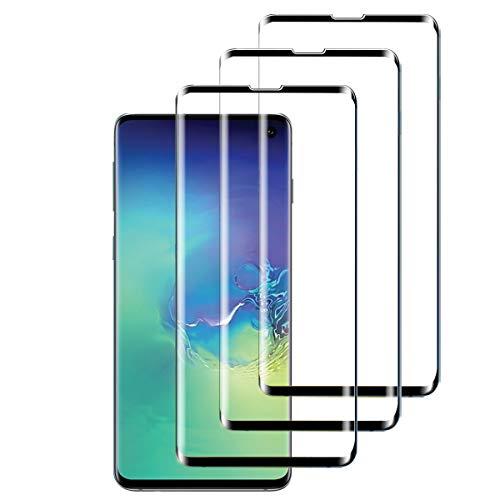 2 Piezas Protector Pantalla para Samsung Galaxy S10 Plus, Transparente Cristal Vidrio Templado Protector Pantalla, Dureza 9H Sin Burbujas Anti-Arañazos