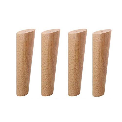 4 patas oblicuas cónicas para muebles, 20 cm de altura, madera de roble, patas de muebles, patas de sofá y accesorios de montaje (color: -, tamaño: -)