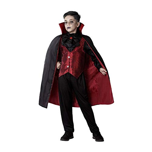 Atosa-65802 Déguisement Vampire, Homme, 65802, Rouge, 7-9 Ans
