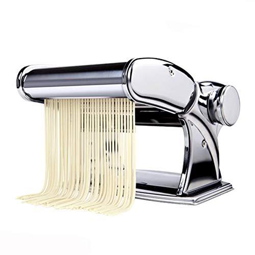 Shule Pasta Maker Stainless Steel Steamline Pasta Roller Machine Includes Pasta Cutter Hand Crank Attachments,Silver