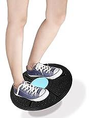 Adjustable Balance & Rocker Board Blue Wobble Balance Board Yoga Training Fitness Exercise Stability Disc for Boys Men Women