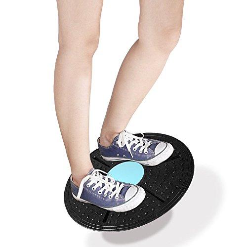 Demiawaking 360 Degree Rotation Wobble Balance Board For Exercise And Body Balance Training