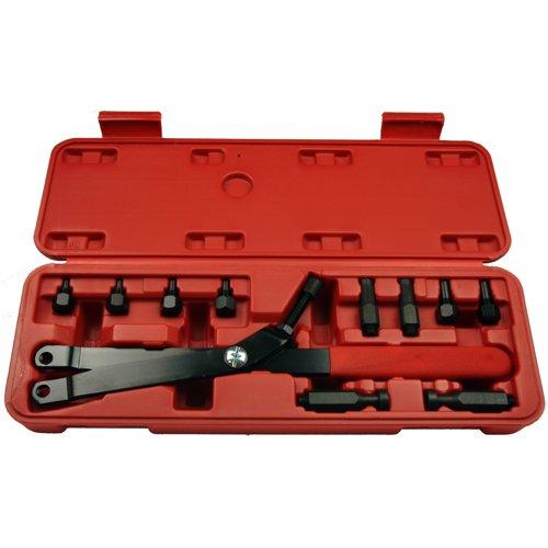 Stirnlochschlüssel für Zweilochmuttern/Nockenwellenrad Gegenhalter Einbauwerkzeug Ø 5-16 mm (Motor-Instandsetzung Werkzeug)