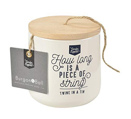Burgon and Ball NEUF en émail et distributeur de ficelle de bois avec 120 m de jute M Stone cream