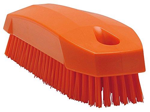 キョーワクリーン Vikan(ヴァイカン) ネイルブラシ ハードタイプ 6440 オレンジ JBLD607 全長:12cm