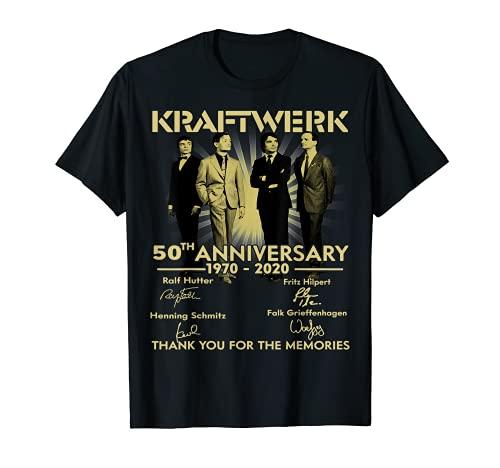 Kraftwerk 50th Anniversary 1970 to 2020 T-shirt for Male, Female, S to 3XL