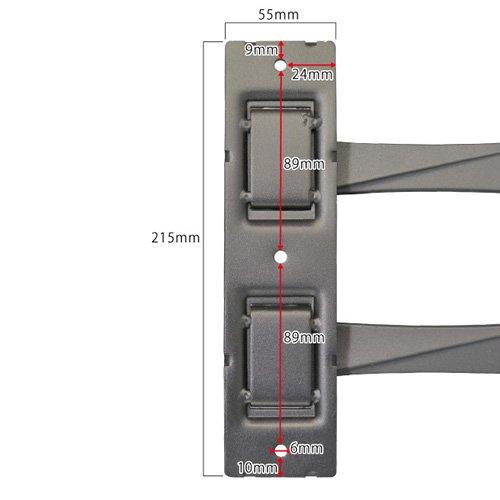 『テレビ 壁掛け 金具 STARPLATINUM 液晶 TV モニター 13-32インチ対応 TVセッターFS NA113 SSサイズ シルバー』の4枚目の画像