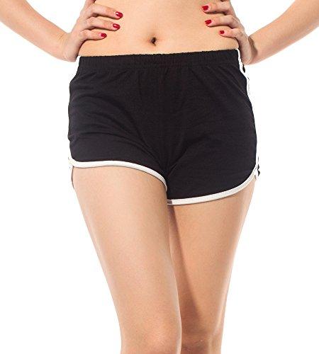 DODOING Damen Shorts Kurze Hosen Sport Shorts Yoga Fitness Running Hot Pants Yogahose Sporthose Trainingshose Jogginhose Pants Stretch Short