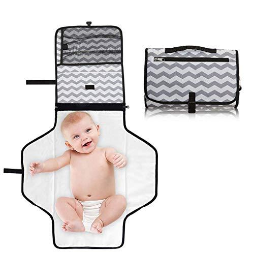 Cozywind Tragbare Wickelunterlage Wasserdicht Wickeltasche für Unterwegs, Wickelset fürs Baby, Wickeln auf Reisen, Faltbare Windelmatte fürs Baby und Befestigung für Kinderwagen