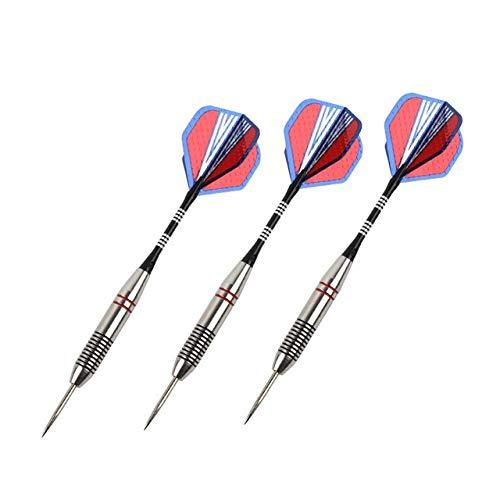Einfach zu bedienen Neue 3 PC/Sets von Professional Darts Stahlspitze Darts Aluminium Wellen Dart Flights Indoor Sports Praktisch (Color : Burgundy)