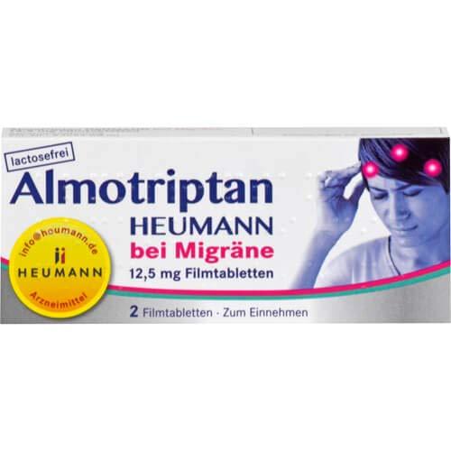 ALMOTRIPTAN Heumann bei Migräne 12,5 mg Filmtabl.,1 x 2 St