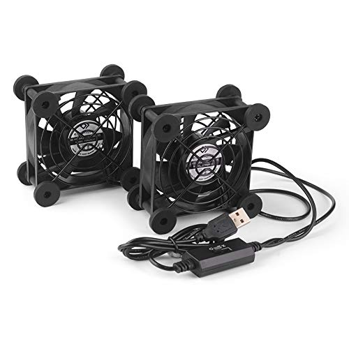 euroharry 2IN1 USB leise PC Ventilator usb lüfter pc lüfter PC 80MM Gehäuse lüfter zum PC/TV box/receiver/AV cabin/PS4/router