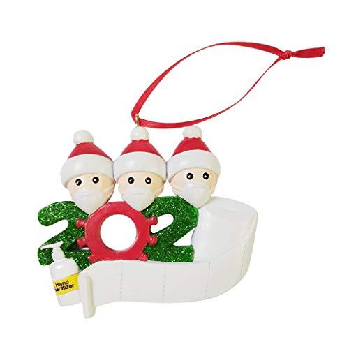 """Cloud ROM Weihnachtsbaum-Ornamente, """"Survived Family"""", 2020 Weihnachten, Dekorationen, hängende Ornamente für Weihnachtsbaum, Heimdekor, Weihnachtsgeschenke"""