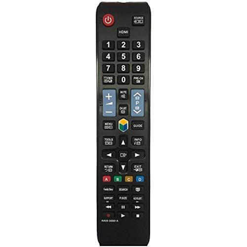 Nuevo Control Remoto Universal de reemplazo AA59-00581A - Ajuste La mayoría de los televisores LED con Pantalla LCD Samsung 3D LCD UE40ES6305U UE40ES6307U UE40ES6340S - No Requiere Configuración