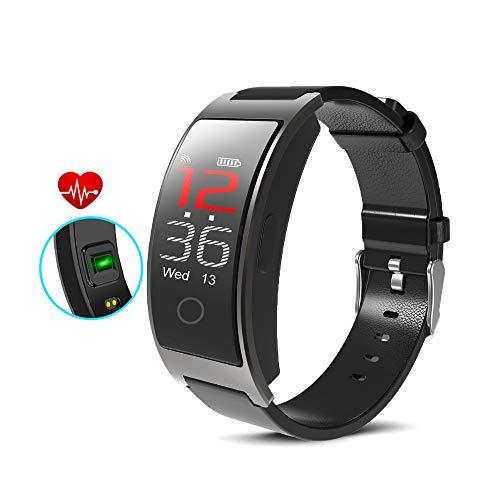 indigi CX Fitness Monitor de Actividad y SmartWatch Ritmo cardíaco + presión Arterial + Sensor SP02 - Podómetro - Notificaciones de pulsación (SMS) y Alerta de Llamada (IP67 Impermeable)