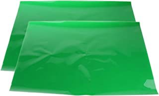 Non-brand 2 stuks 40 × 50 cm transparant groen kleurfilter gel blad fluorescerend party light