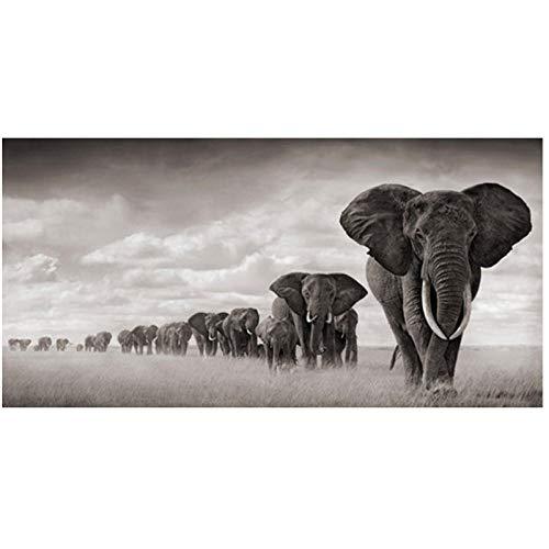 xwwnzdq Elefantes de África Animales Salvajes Lienzo Pintura Carteles e Impresiones Cuadros...