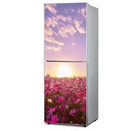 RAIN QUEEN K¨¹hlschrank Kleiderschrank Geschirrsp¨¹ler Aufkleber Dekor Folie Klebefolie Front Sticker Blumen Landschaft (L#)