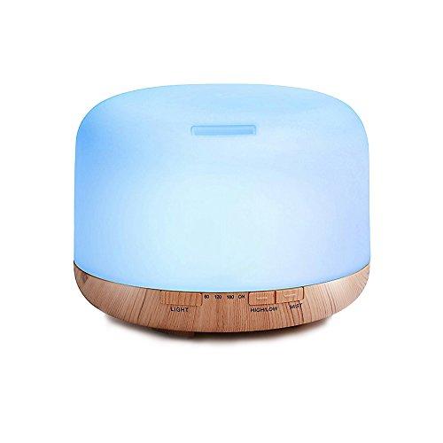 Galapara Humidificador Ultrasónico,500ml Humidificador Ultrasónico de Aire con Mando a Distancia, Lámpara Difusora de Aromas Aceite Esencial Aromaterapia Mist Maker