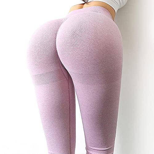 ShFhhwrl Mujer Leggins Legging Sin Costuras Pantalones De Yoga De Cintura Alta Scrunch Gym Leggings Push Up Booty Legging Fitness Pantalones De Yoga para Mujer