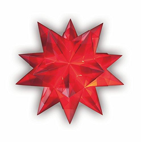 Bascetta Stern Bastelset 30 x 30 cm 32 Blatt rot Transparentpapier 115g/m²
