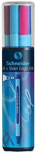 Schneider Slider Edge XB Ballpoint Pen 8-Pack, Black/Red/Blue/Green/Orange/Purple/Pink/Light Blue (152298) Photo #7