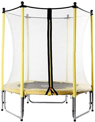 Trampoline verhoogde geleidingsvlak, trampoline met beschermende omheining, voor kinderen, trampoline, tuin, buitenshuis, voor volwassenen, gewichtsverlies geel