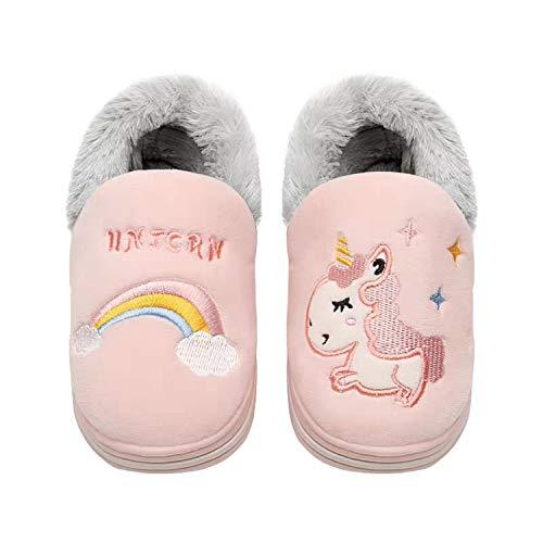 Zapatillas de algodón para interior con diseño de unicornio,...