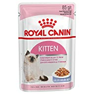 ROYAL CANIN Kitten Instinctive wet cat 85g pouches comes in either Gravy or Jelly (Jelly, x 24 Pouch...