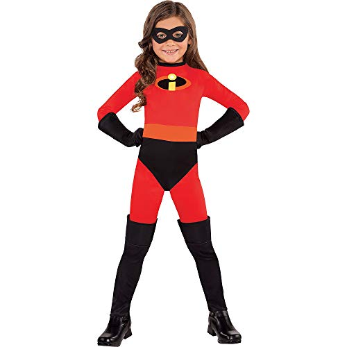 Party City, Violet Halloween Costume for Girls, Disney, The Incredibles, Medium, Includes Mask and Gloves