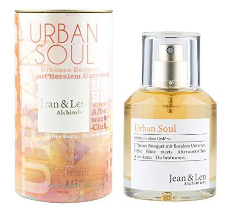 Jean & Len Damenduft Urban Soul, Parfüm für Damen, Eau de Parfum, Duftnoten: stark, warm, natürlich, geheimnisvoll, 50 ml, 1 Stück, 2902101302