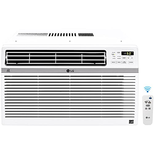 LG Electronics LG 18,000 BTU Window Smart Air Conditioner with Remote,...