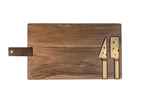DOIY LIMITED Holzbrett und Messer für Käse.