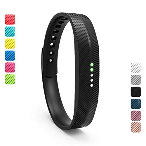 Wekin Replacement Wrist Band Compatible for Fitbit Flex 2, Soft Silicone Accessory Wristband Strap for Flex 2 Sports Classic Fitness Tracker (Small, Black)
