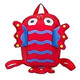 Allence - Mochila infantil para guardería, diseño antipérdidas, rojo, Talla única