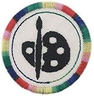 "Merit Badge Patch- 2"" Iron On Artist Palette Patch"