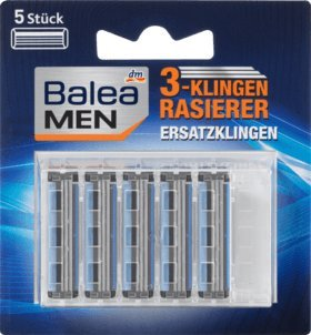 Balea MEN 3-Klingen Rasierklingen, 5 Stück