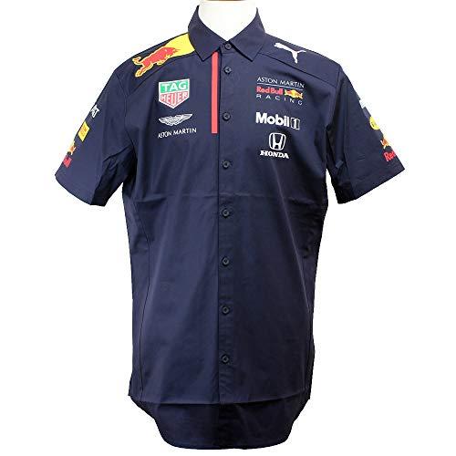 Officiële Formule 1 Merchandise - Red Bull Racing 2020 - Team Shirt Heren - Korte mouw - Team en sponsorlogo's - Donkerblauw - Katoen - Maat: XS