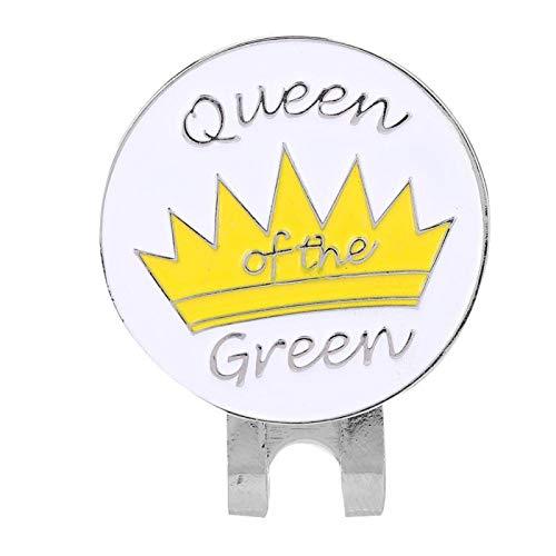DAUERHAFT Marcador Personalizado con Forma de Corona de Dibujos Animados, Marcador de Bola con Clip para Sombrero