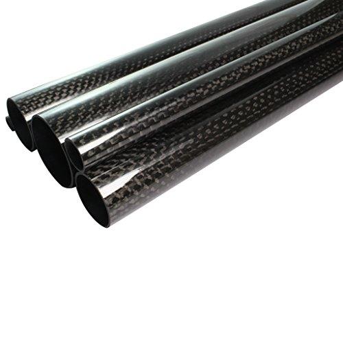 CFK – Tube en carbone enroulé 6 x 4 x 1000 mm poli et laqué