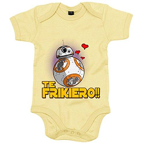 Body bebé te frikiero regalo amor frikis - Amarillo, 6-12 meses
