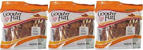 Good N Fun Triple Flavor Wings Treats for Dogs Pack of 3 product image