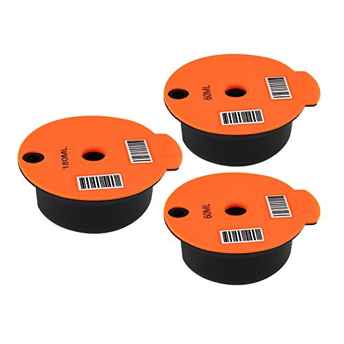 Nobranded 3x Cápsulas de café recargables lavables para malla de acero inoxidable Bosch tassim