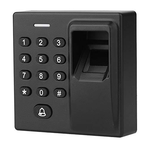 Fockety Cerraduras de Puerta magnéticas, Alarma de Timbre incorporada, Sistema de Control de Acceso a la Puerta, Tarjeta RFID biométrica de reconocimiento de Huellas Dactilares para el Centro de I