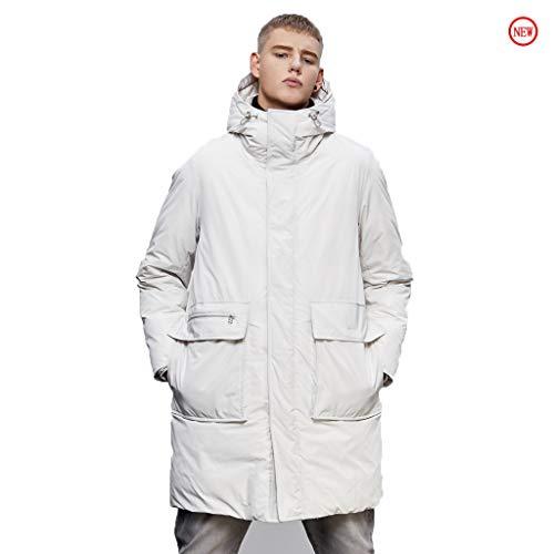 Heren Jas Dikke Warm Wandelen Kleding Ski Waterdichte Jas Wit Hooded Lange Jas Polyester Vezel Om Losse winter kleding Overwinnen