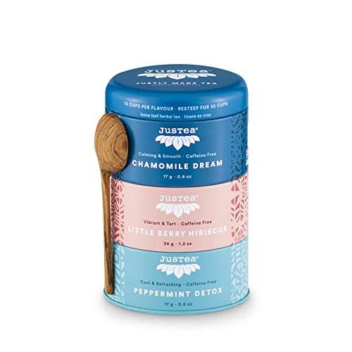 Trio Herbal Tea   JUSTEA   68 gram   90 kop   Chamomille Dream   Little Berry Hibiscus   Peppermint Detox   Biologische…