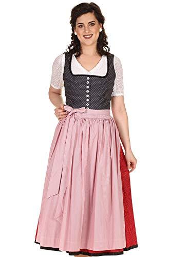 Hammerschmid Damen Dirndl lang 80cm Baumwolle geblümt Pillersee 2012106-89 schwarz Gr.50