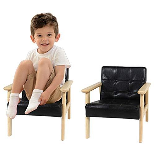 Sofá infantil para niños, sofá suave, silla individual, sofá de diseño, sofá interior y exterior, muebles para niños (color negro, tamaño: 39 x 40,5 x 42 cm)