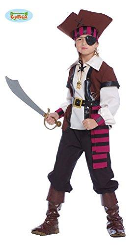 Guirca - 85372 Déguisement Pirate des Sept Mari, Caraïbes, Enfant 7-9 ans, Multicolore.