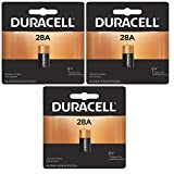3x Duracell 28A 6V Battery Replacement for 4LR44,PX28A, 476AF, 476A, V4034PX